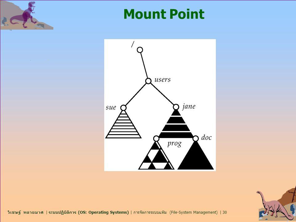 วิเชษฐ์ พลายมาศ   ระบบปฏิบัติการ (OS: Operating Systems)   การจัดการระบบแฟ้ม (File-System Management)   30 Mount Point