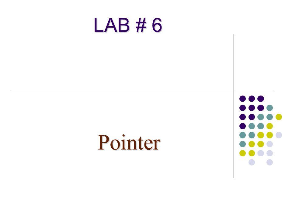 12 1.1 จงวาดรูปแสดงผลลัพธ์ที่ได้จากการใช้คำสั่ง ของ pointer ข้างล่างนี้ main() { int x,y,z; int *p; p = &x; *p = 1; p =&y; *p = 3; p=&z; *p = y; } unkn own x y z p x y z p x y z p x y z p Lab6-11.cpp