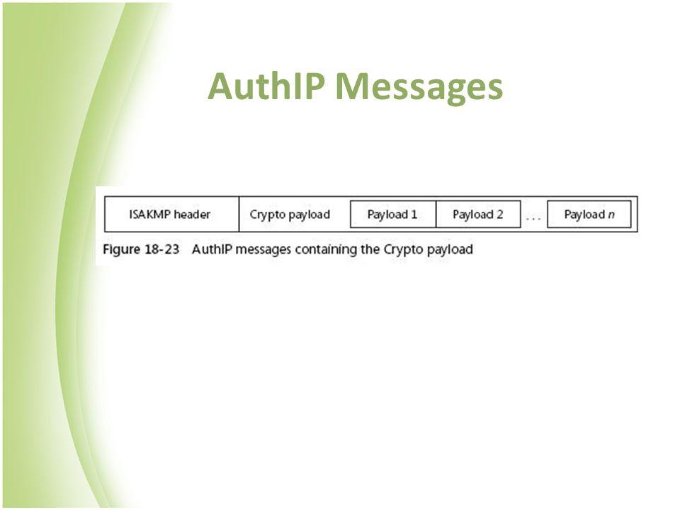 AuthIP Messages