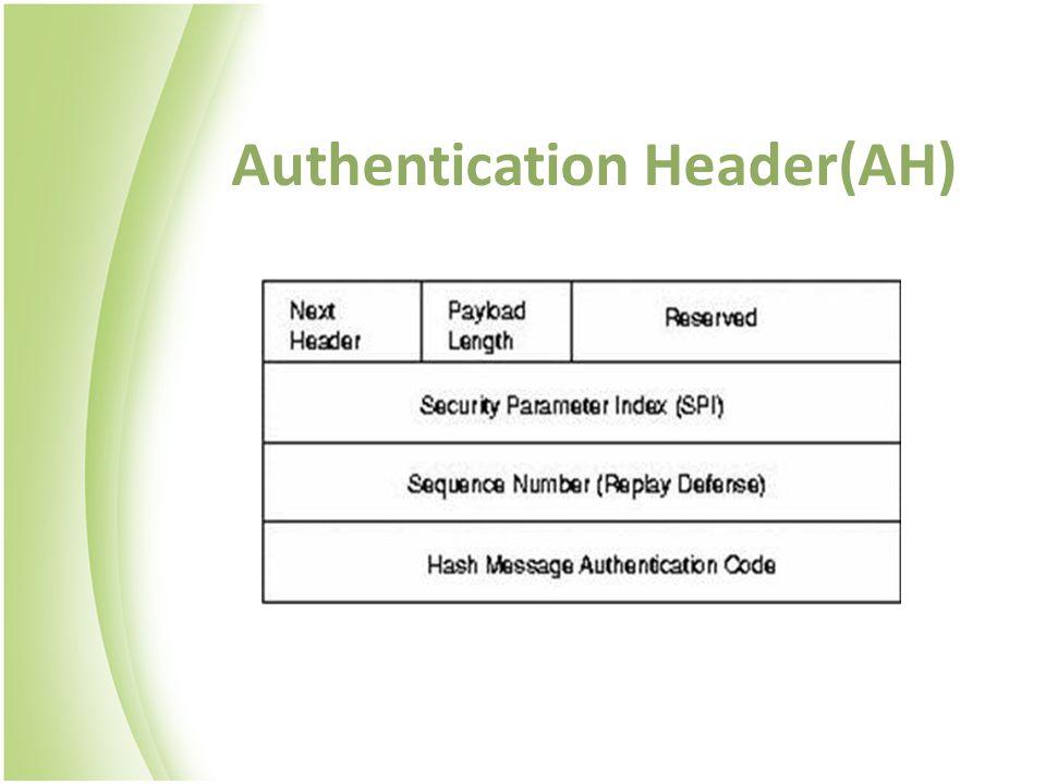 Authentication Header(AH)
