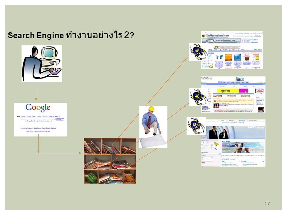 Search Engine ทำงานอย่างไร 2 ? 27