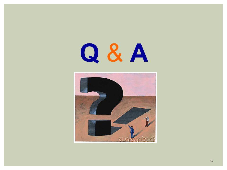 Q & AQ & A 67