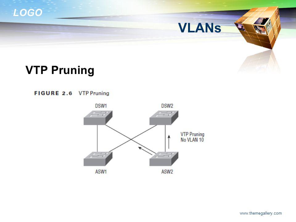 LOGO www.themegallery.com VLANs VTP Pruning
