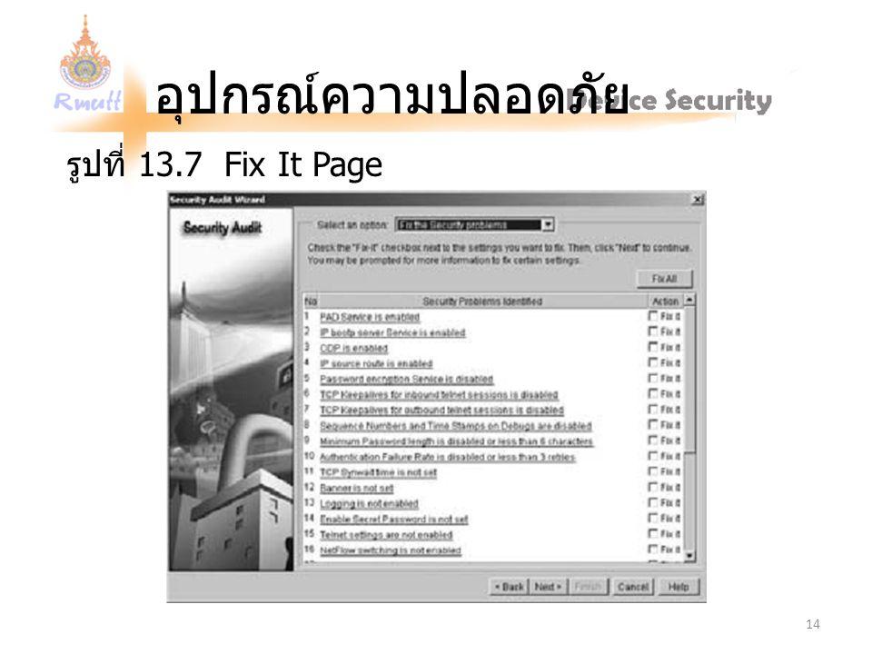 อุปกรณ์ความปลอดภัย รูปที่ 13.7 Fix It Page 14
