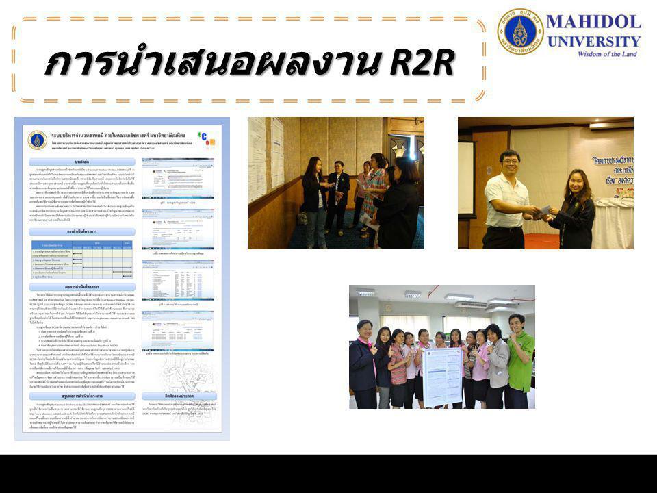 การนำเสนอผลงาน R2R