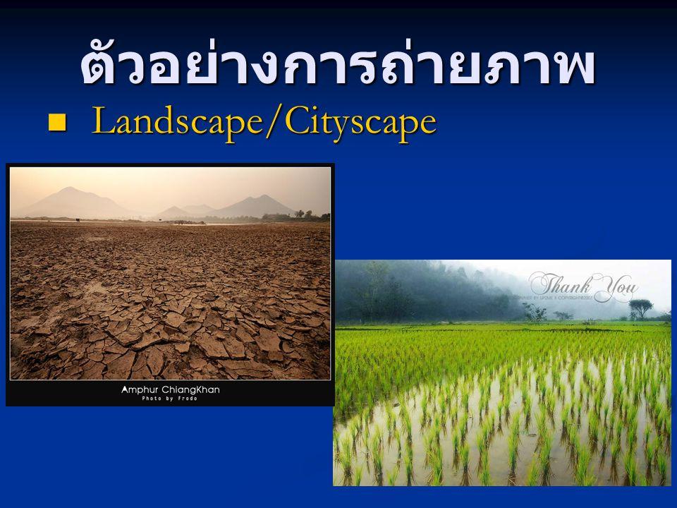 ตัวอย่างการถ่ายภาพ Landscape/Cityscape Landscape/Cityscape