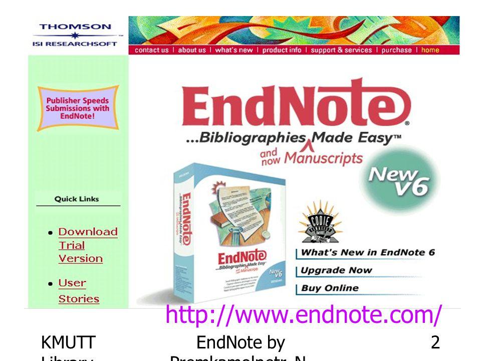 KMUTT Library EndNote by Premkamolnetr, N. 43