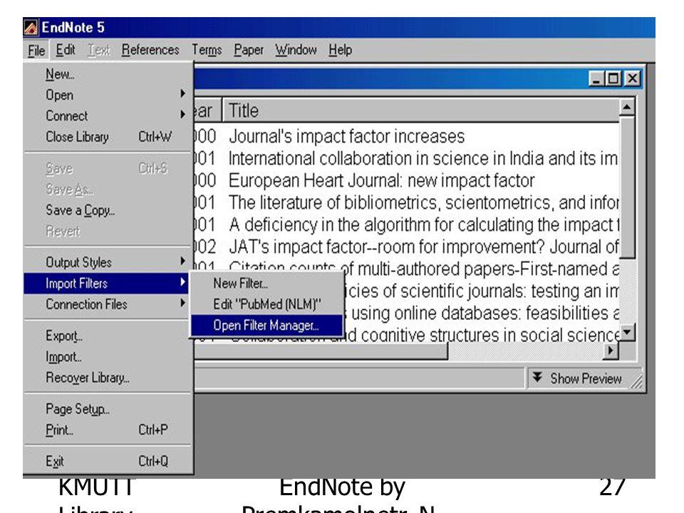 KMUTT Library EndNote by Premkamolnetr, N. 27