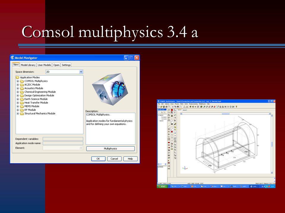 Comsol multiphysics 3.4 a