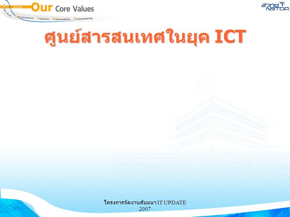 โครงการจัดงานสัมมนา IT UPDATE 2007 ศูนย์สารสนเทศในยุค ICT
