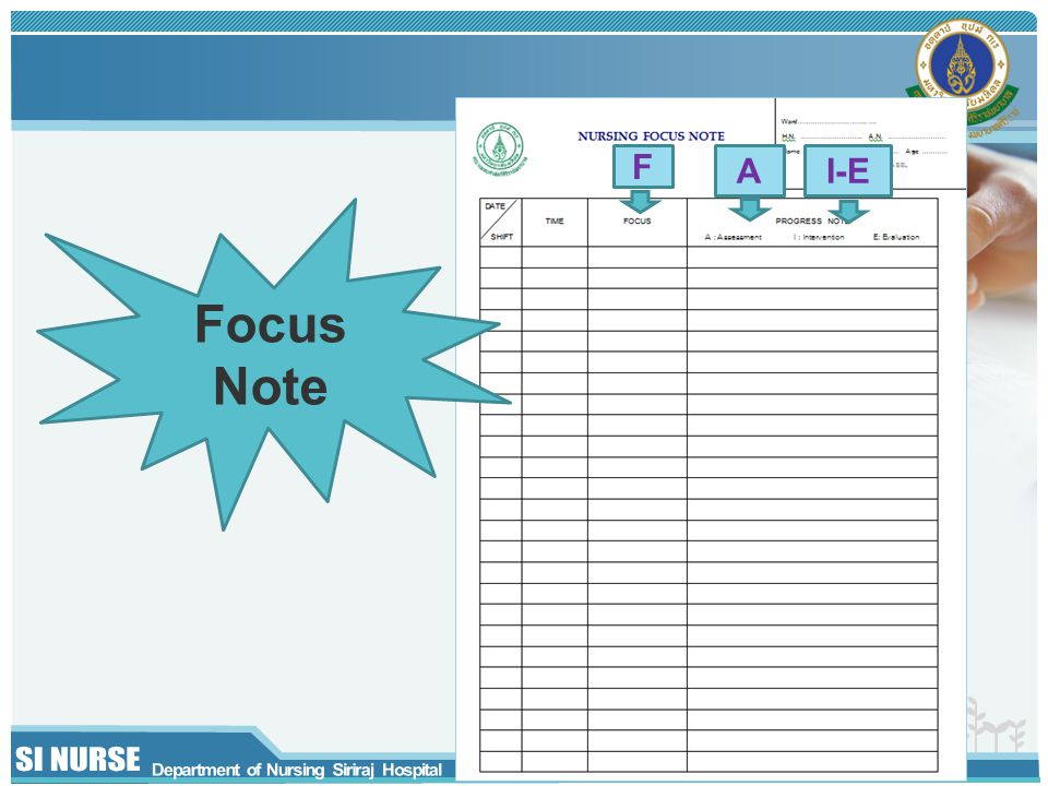 F I-E Focus Note A