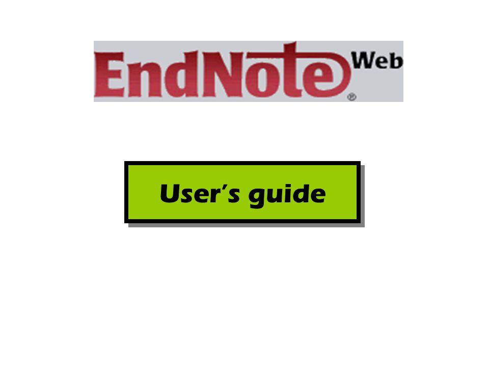 โปรแกรมจัดการทางบรรณานุกรมซึ่งทำงานบนเว็บ (Web) ที่ที่ผู้ใช้สามารถจัดการข้อมูลเอกสารอ้างอิง อ้างอิง เอกสารที่จัดเก็บลงในผลงานวรรณกรรม และสร้าง รูปแบบบรรณานุกรม คลังข้อมูลอ้างอิง (Library) EndNote Web คืออะไร