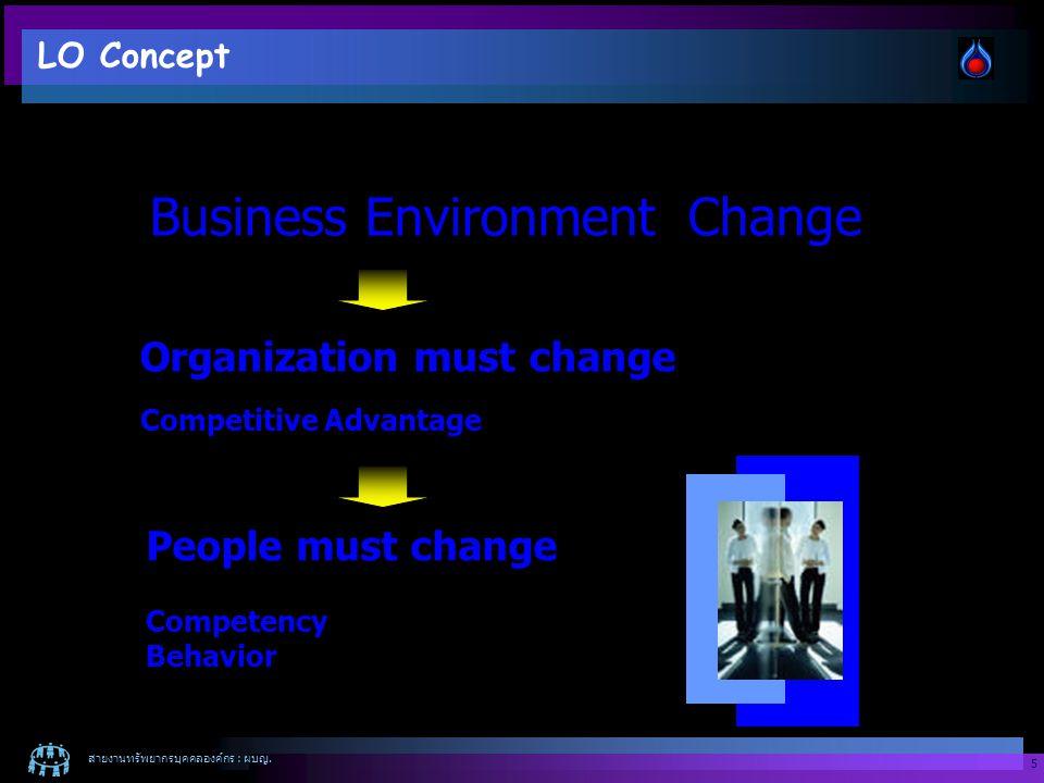 สายงานทรัพยากรบุคคลองค์กร : ผบญ.6 We will be The learning org.