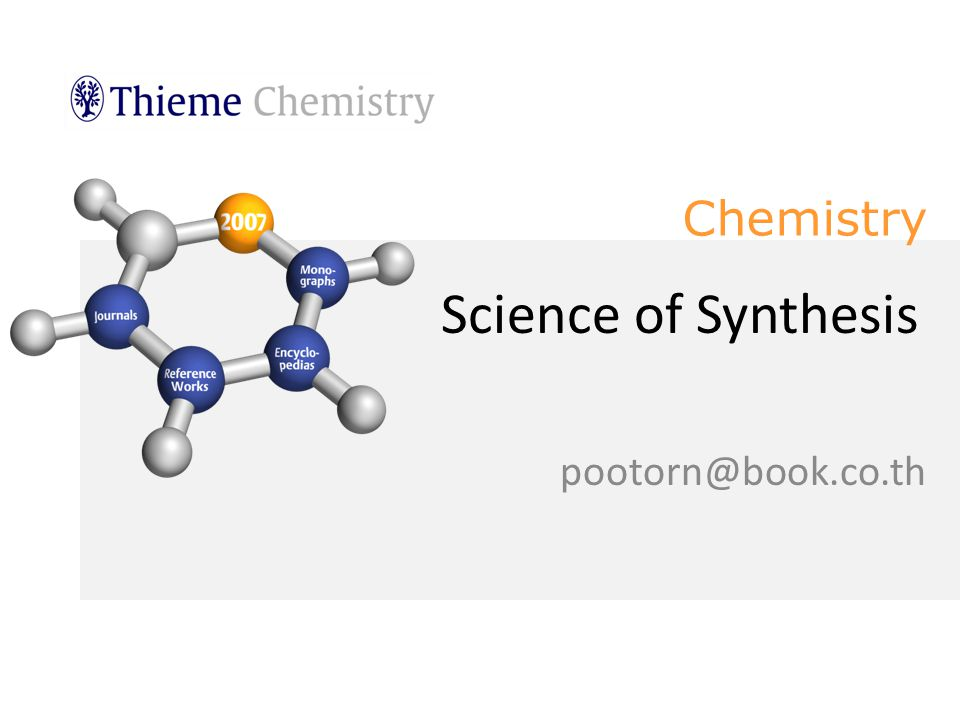 Chemistry Science of Synthesis