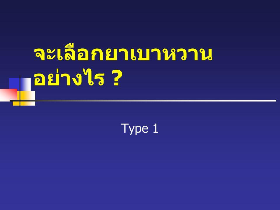 จะเลือกยาเบาหวาน อย่างไร ? Type 1