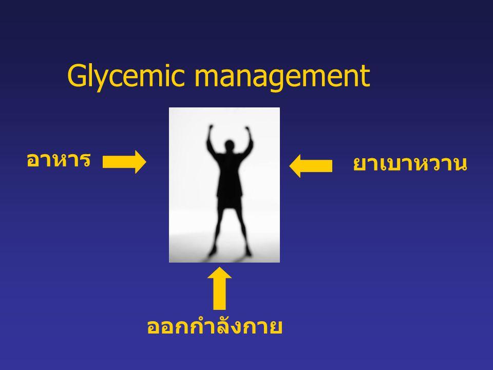 อาหาร ยาเบาหวาน ออกกำลังกาย Glycemic management