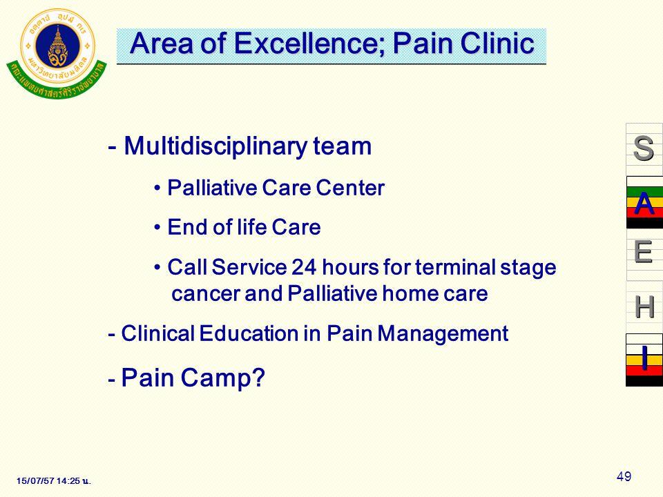 15/07/57 14:28 น. 49 - Multidisciplinary team Palliative Care Center End of life Care Call Service 24 hours for terminal stage cancer and Palliative h
