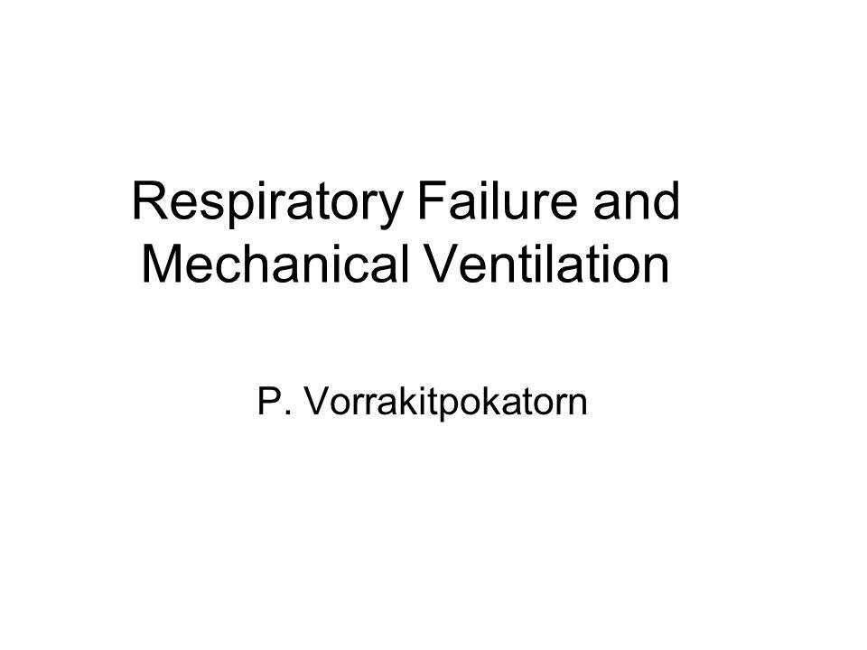 Respiratory Failure and Mechanical Ventilation P. Vorrakitpokatorn