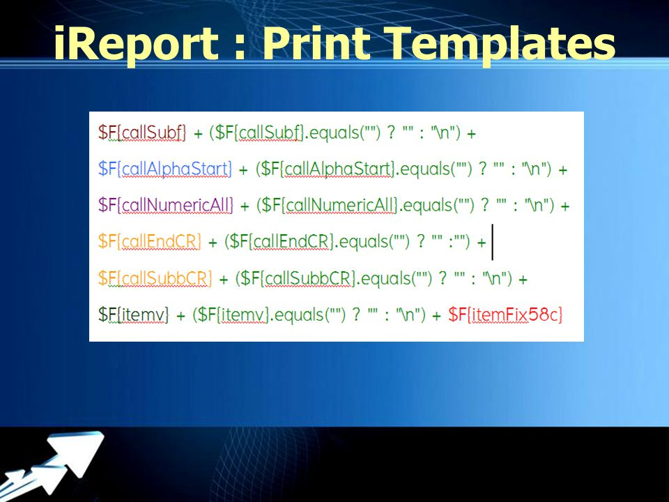 Powerpoint Templates iReport : Print Templates
