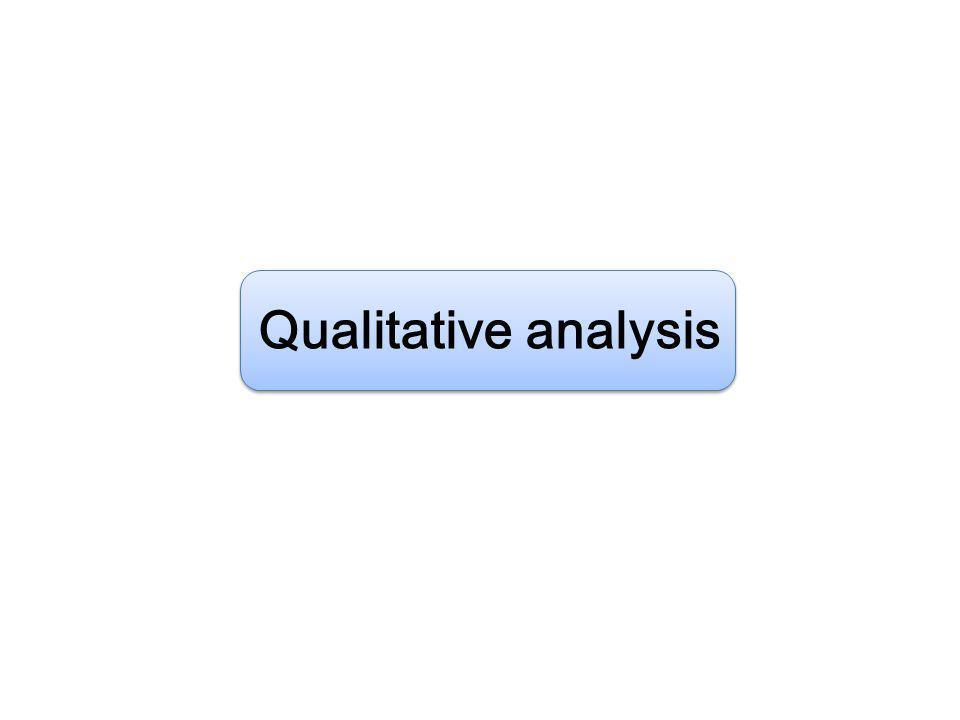 BIOCHEMICAL ANALYSIS Qualitative (คุณภาพวิเคราะห์) e.g.