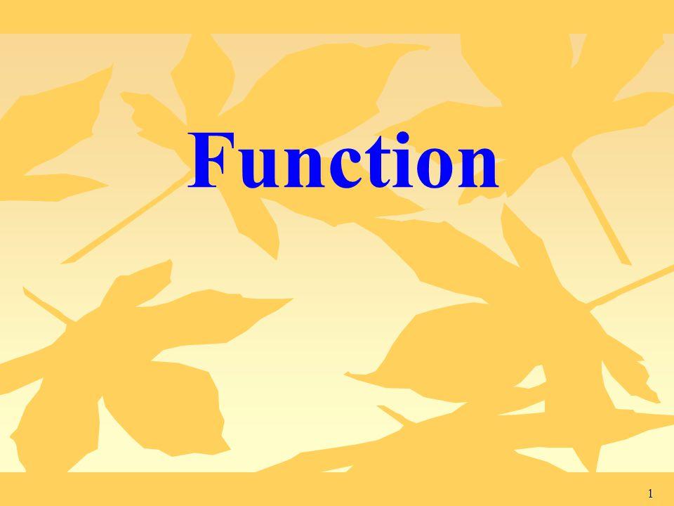 1 Function