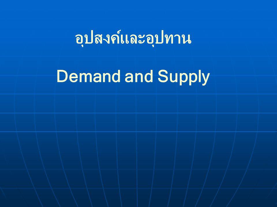 การเปลี่ยนแปลงของอุปทาน การเปลี่ยนแปลงปริมาณขาย (Change in Qunatity Supplied) การเปลี่ยนแปลงปริมาณขาย (Change in Qunatity Supplied) การเปลี่ยนแปลงของเส้นอุปทานหรือการย้าย เส้นอุปทาน (Shifts in the Supply Curve) การเปลี่ยนแปลงของเส้นอุปทานหรือการย้าย เส้นอุปทาน (Shifts in the Supply Curve)