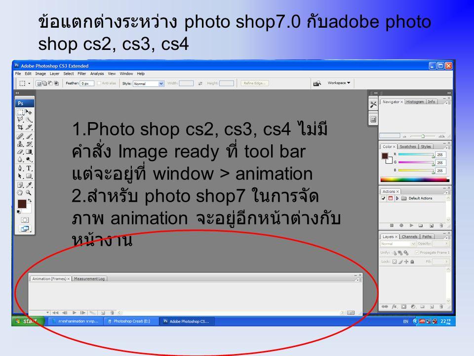 ทำการ save ไฟล์โดยเลือก save for web or device ถ้า photo shop 7.0 จะเลือก save optimized as….