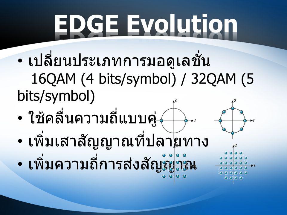 เปลี่ยนประเภทการมอดูเลชั่น 16QAM (4 bits/symbol) / 32QAM (5 bits/symbol) ใช้คลื่นความถี่แบบคู่ เพิ่มเสาสัญญาณที่ปลายทาง เพิ่มความถี่การส่งสัญญาณ