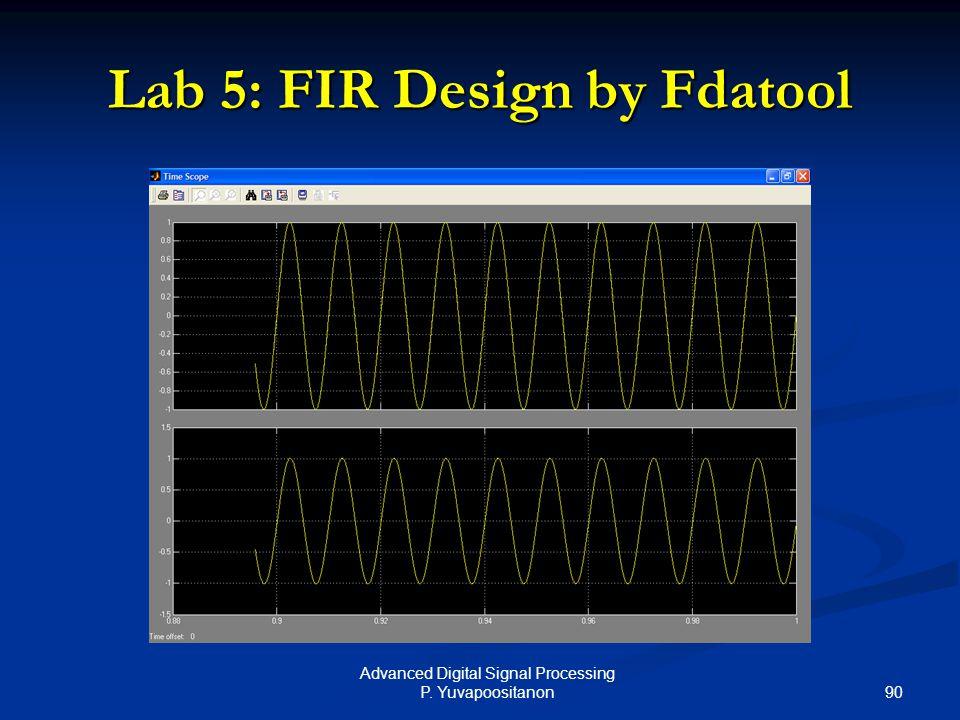 90 Advanced Digital Signal Processing P. Yuvapoositanon Lab 5: FIR Design by Fdatool