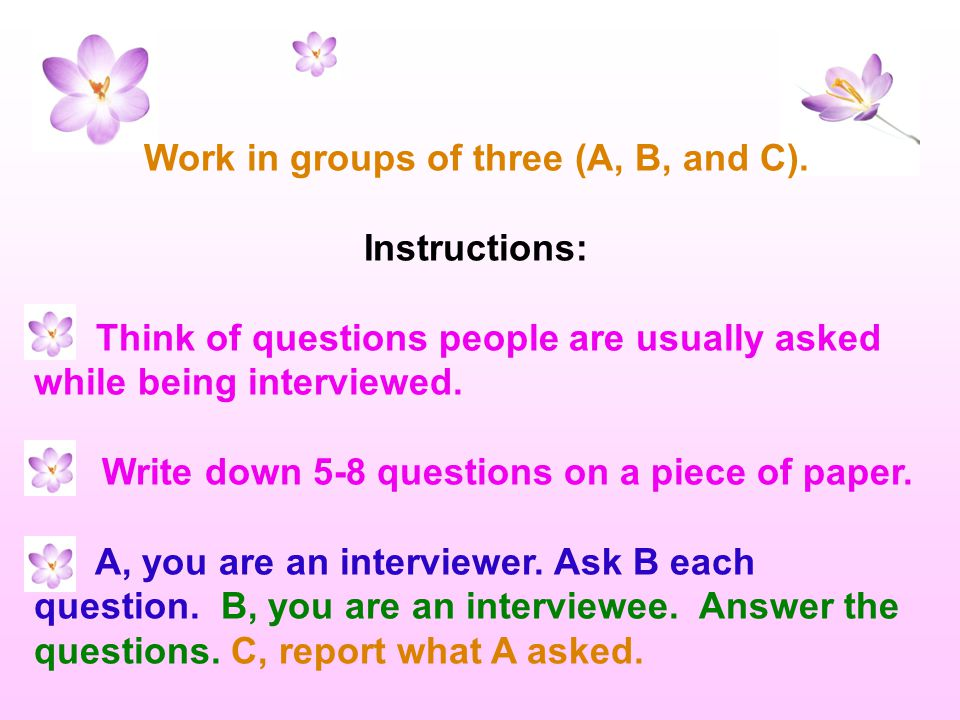 Grammar: Reported questions (page 64) Study Note: Direct questions Question word + auxiliary verb+ subject + verb.