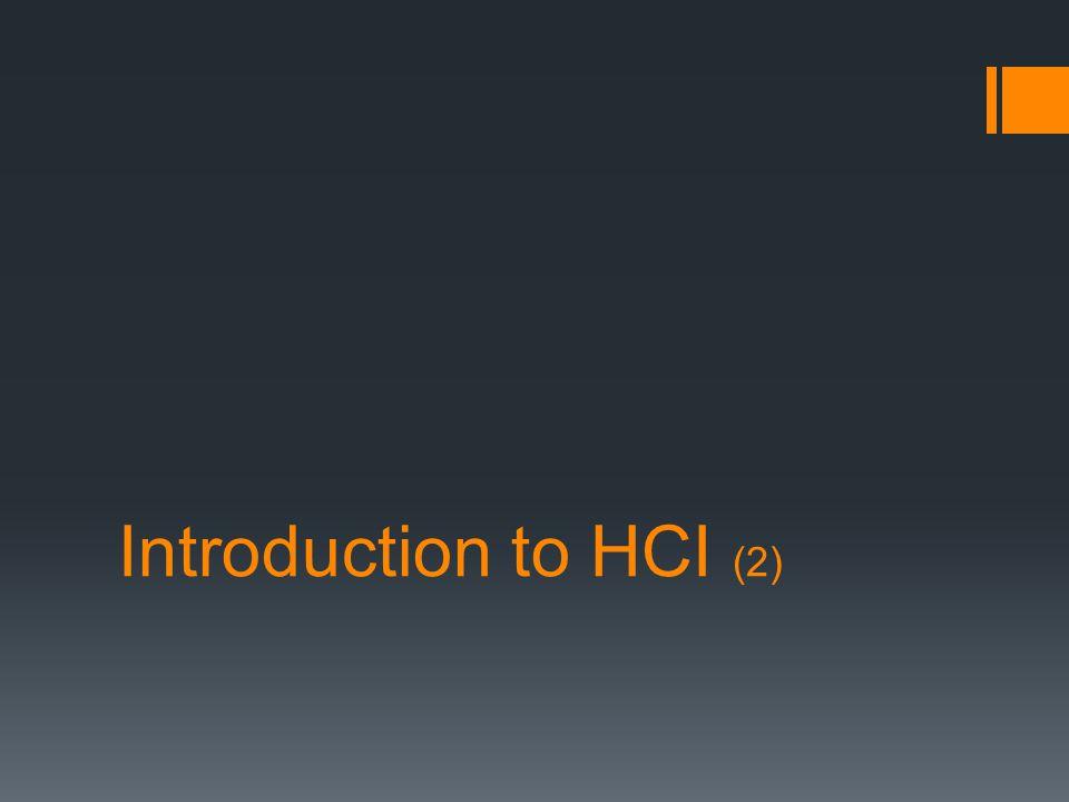 Steps to HCI Goals