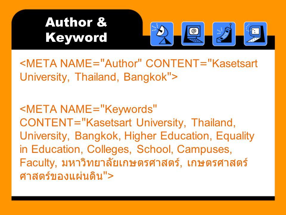 Author & Keyword