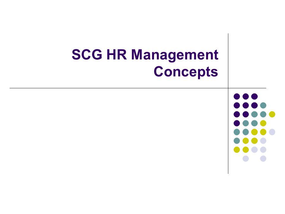 SCG HR Management Concepts
