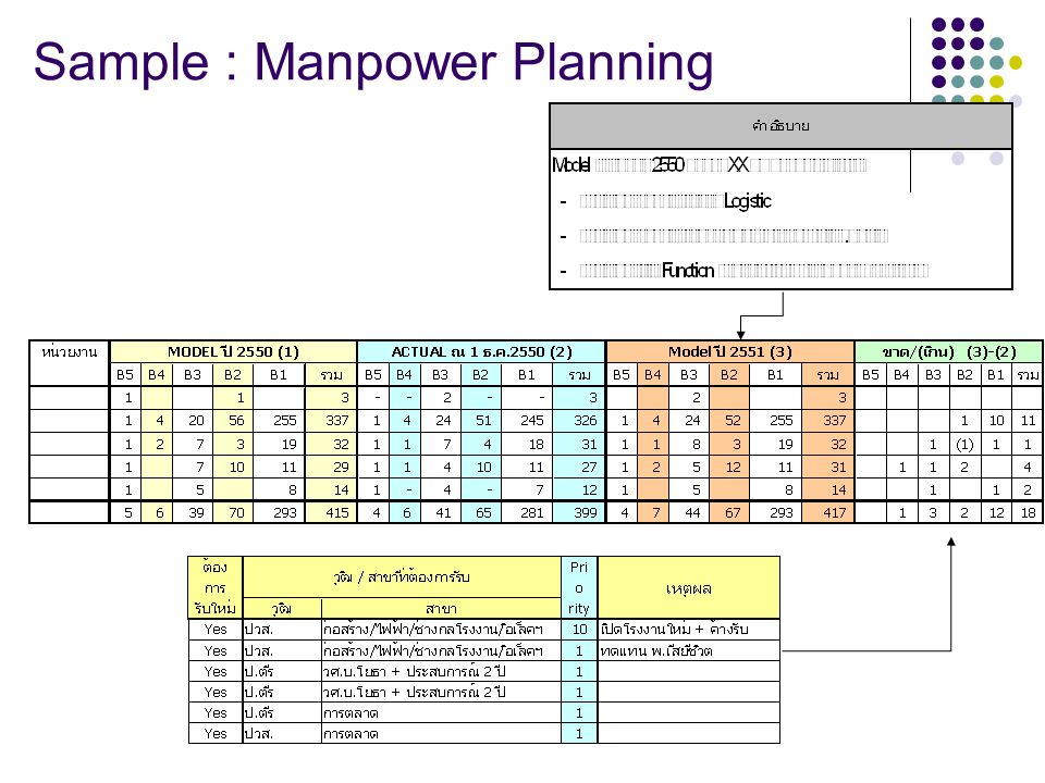 Sample : Manpower Planning