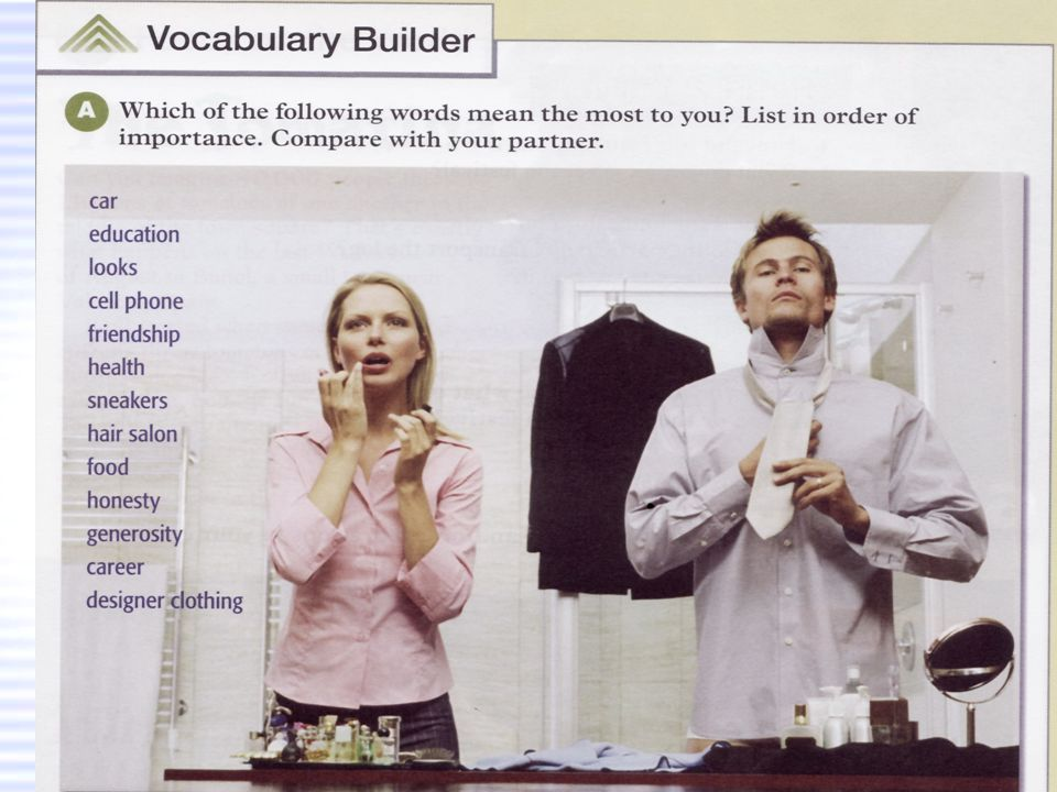 t t t f f Vocabulary Builder: A (page 24)