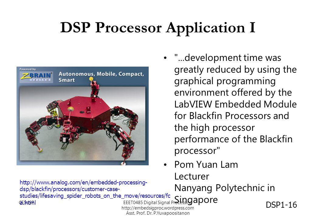 DSP Processor Application I