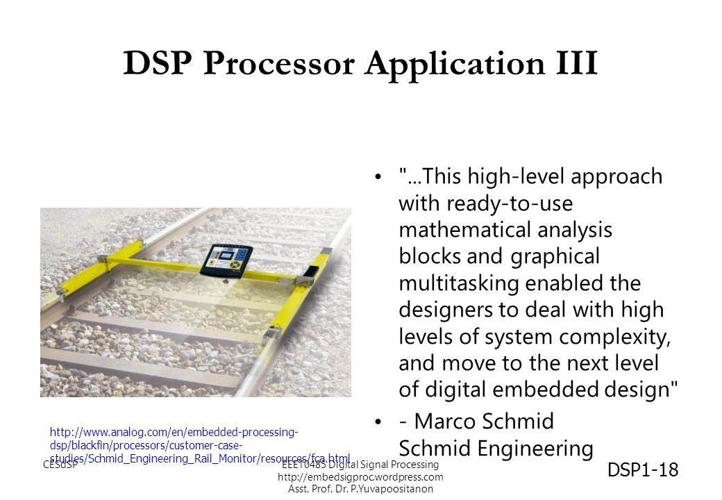 DSP Processor Application III