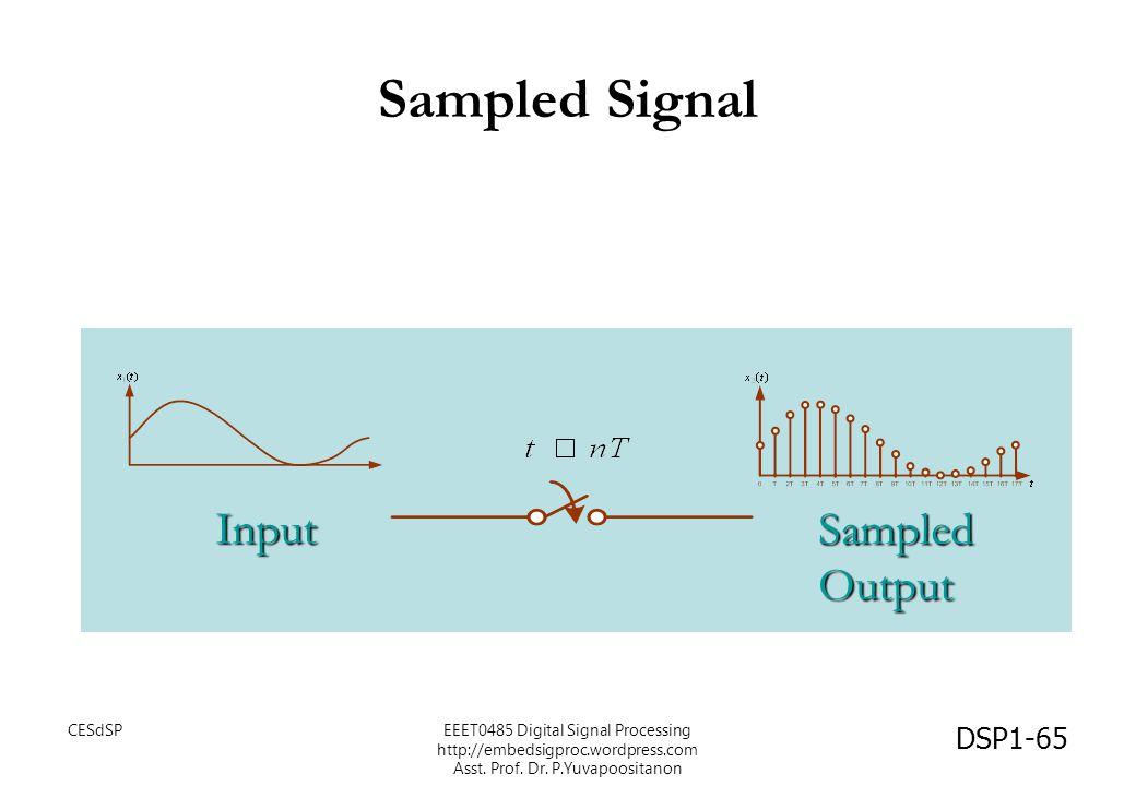 Sampled Signal Input SampledOutput DSP1-65 CESdSPEEET0485 Digital Signal Processing http://embedsigproc.wordpress.com Asst. Prof. Dr. P.Yuvapoositanon