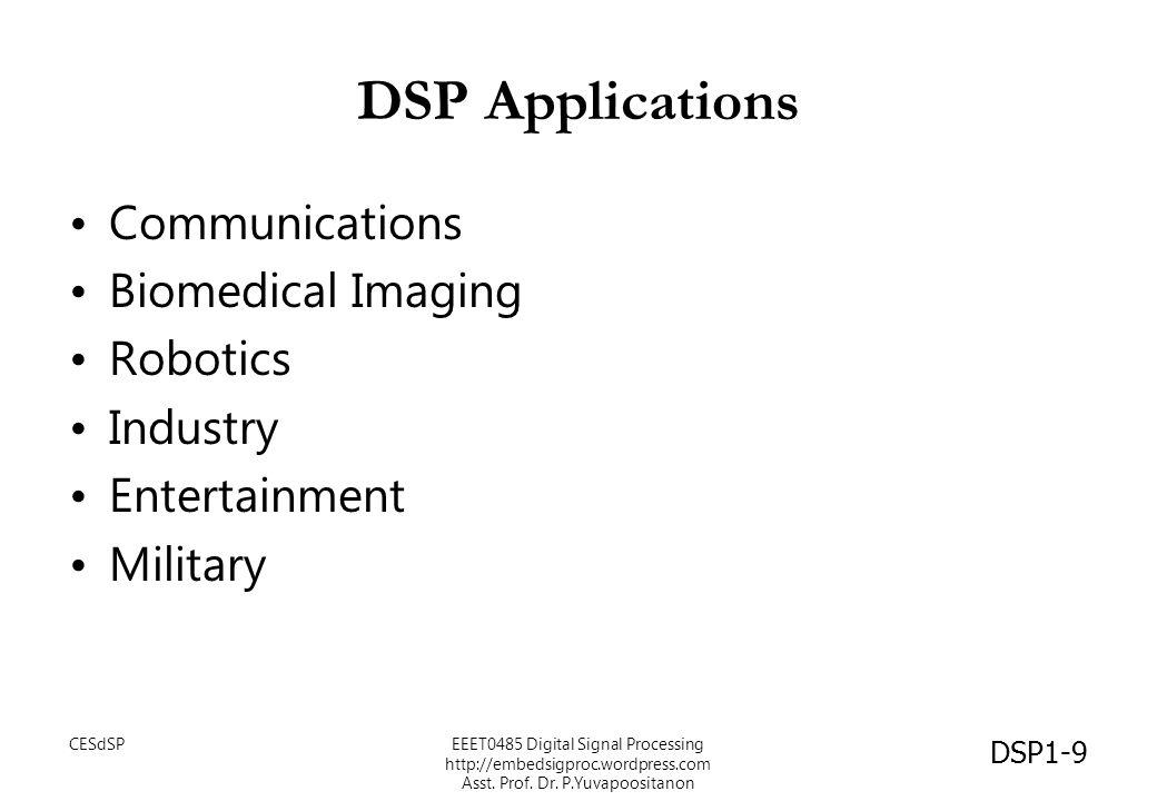 วงจรปรับแต่งสัญญาณ (Equaliser) DSP1-60 CESdSPEEET0485 Digital Signal Processing http://embedsigproc.wordpress.com Asst.