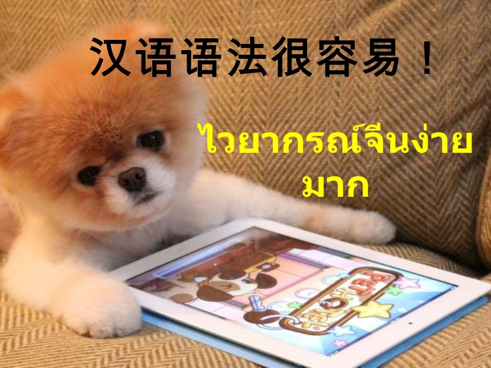 汉语语法很容易! ไวยากรณ์จีนง่าย มาก