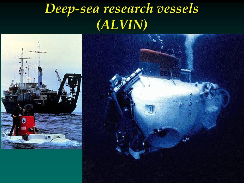 Deep-sea research vessels (ALVIN)