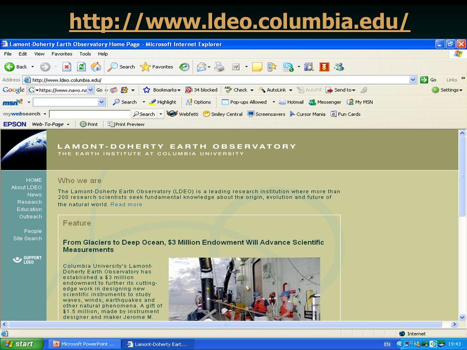 http://www.ldeo.columbia.edu/