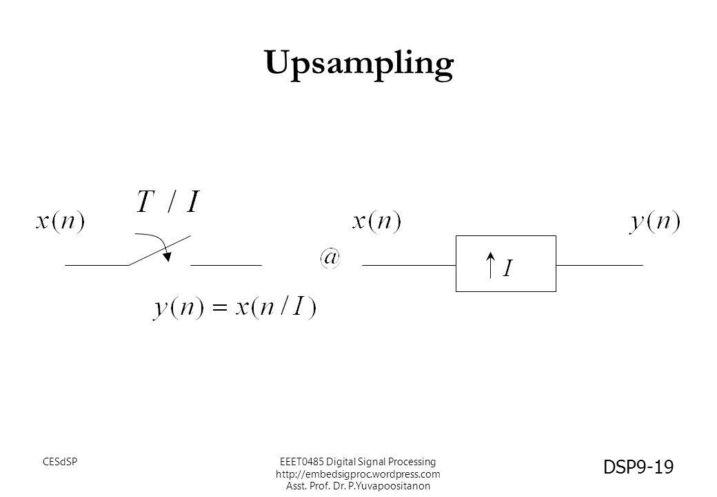 Upsampling CESdSP DSP9-19 EEET0485 Digital Signal Processing http://embedsigproc.wordpress.com Asst. Prof. Dr. P.Yuvapoositanon