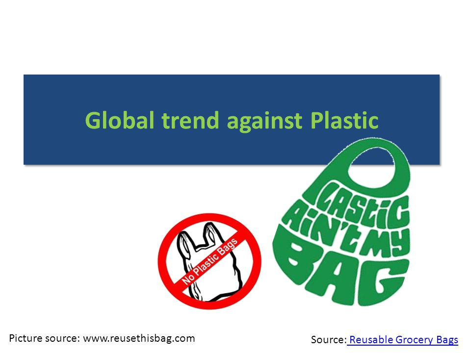 Picture source: www.reusethisbag.com Source: Reusable Grocery Bags Reusable Grocery Bags Global trend against Plastic