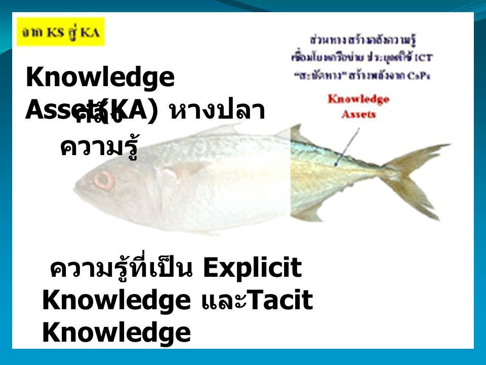 Knowledge Asset(KA) หางปลา คลัง ความรู้ ความรู้ที่เป็น Explicit Knowledge และ Tacit Knowledge