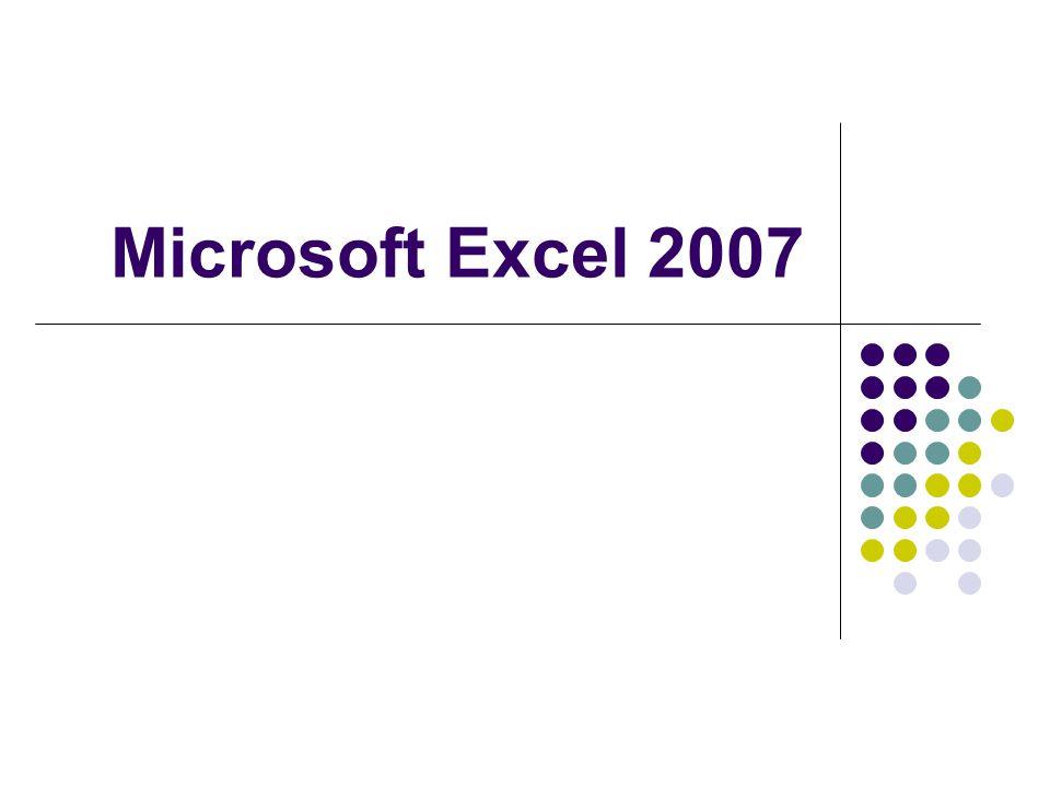 พื้นฐานเกี่ยวกับ Microsoft Excel เป็นโปรแกรมสำหรับงานด้านเอกสารใน รูปแบบของตารางเหมาะสำหรับนำไปใช้ งานด้านการคำนวณ แบ่งการทำงานเป็น Worksheet ใน หนึ่งไฟล์ (Workbook) สามารถมี หลาย Worksheet ใน Worksheet ประกอบด้วย Row และ Column จุดตัดของ Row และ Column เรียกว่า Cell การคำนวณ สามารถใช้ชื่อ Cell เป็นตัว แปรในการคำนวณ