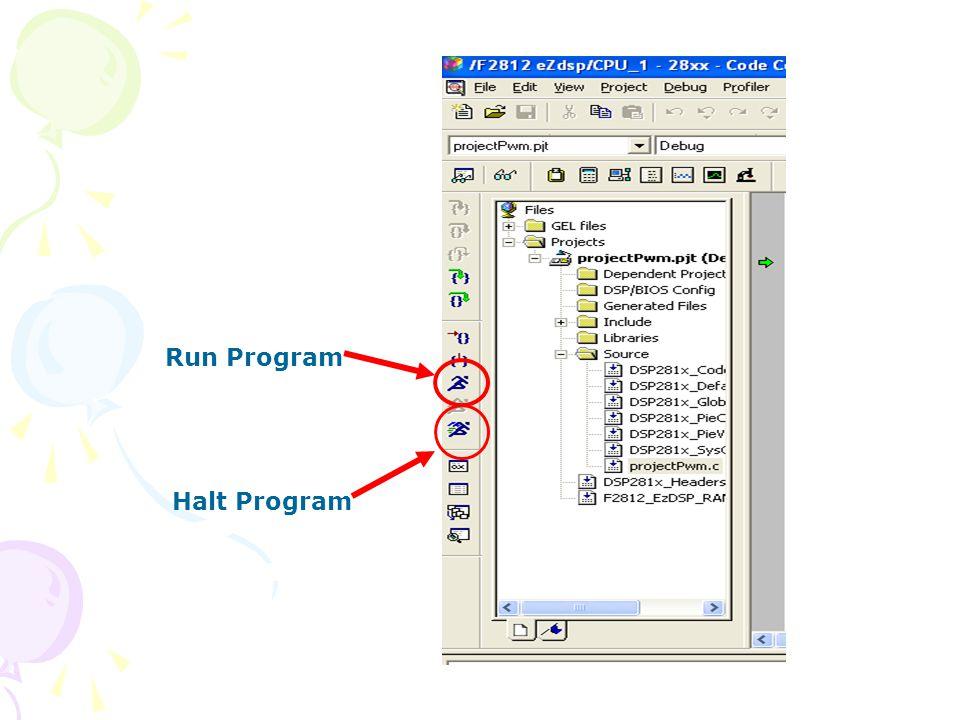 Run Program Halt Program