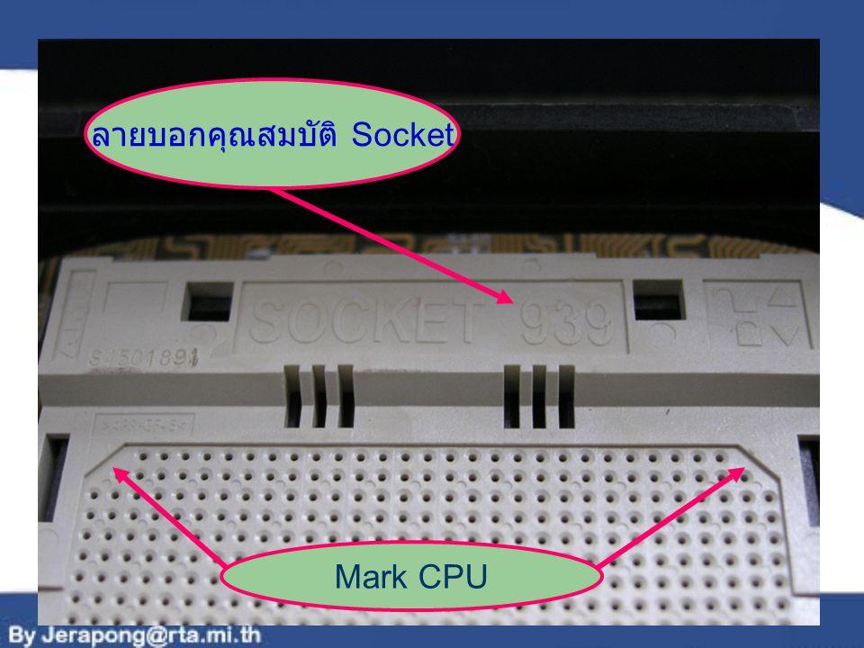 ลายบอกคุณสมบัติ Socket Mark CPU