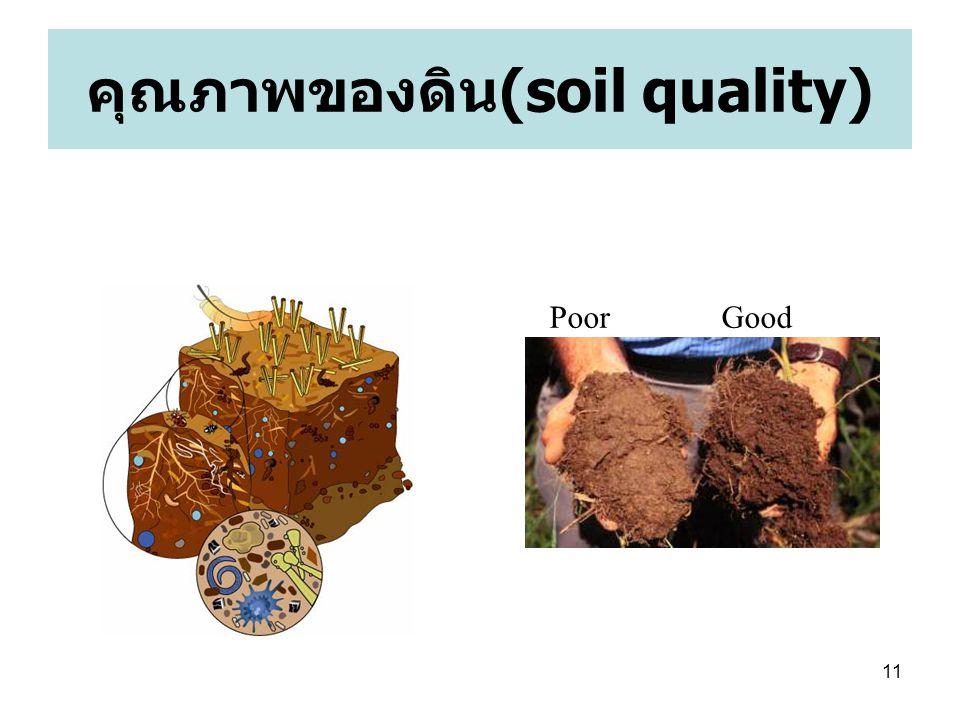 11 คุณภาพของดิน (soil quality) Poor Good
