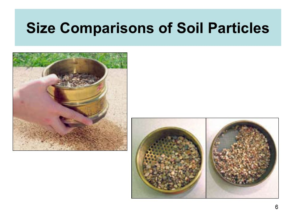 6 Size Comparisons of Soil Particles